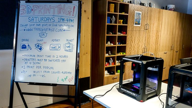 3D Printing  Workshop Library at The Dock Victoria, Australia