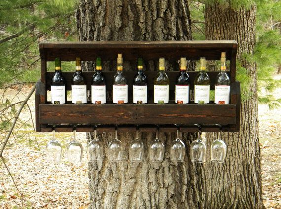 Great Idea for wedding gifts or wedding party!!  Wine Rack Reclaimed Pallet Wood Pallet Wine by JNMRusticDesigns, $85.00