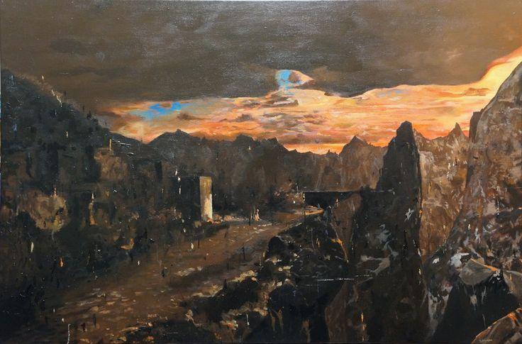 'The Hunt Builds', oil on canvas, 61 x 91cm. www.jeremyelkington.weebly.com