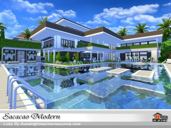 the sims resource sacacao modern house by autaki sims 4 downloads - Sims 4 Home Design