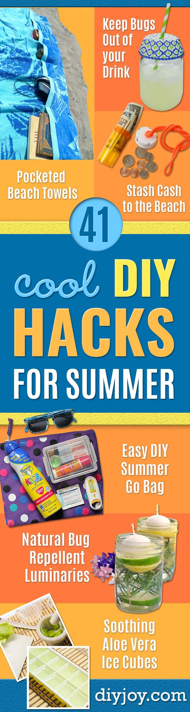 41 Cool DIY Hacks for Summer time