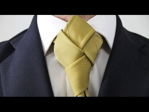 How to Tie a Tie Harlequin Knot. So this looks like it can go wrong in several ways, but it looks great.