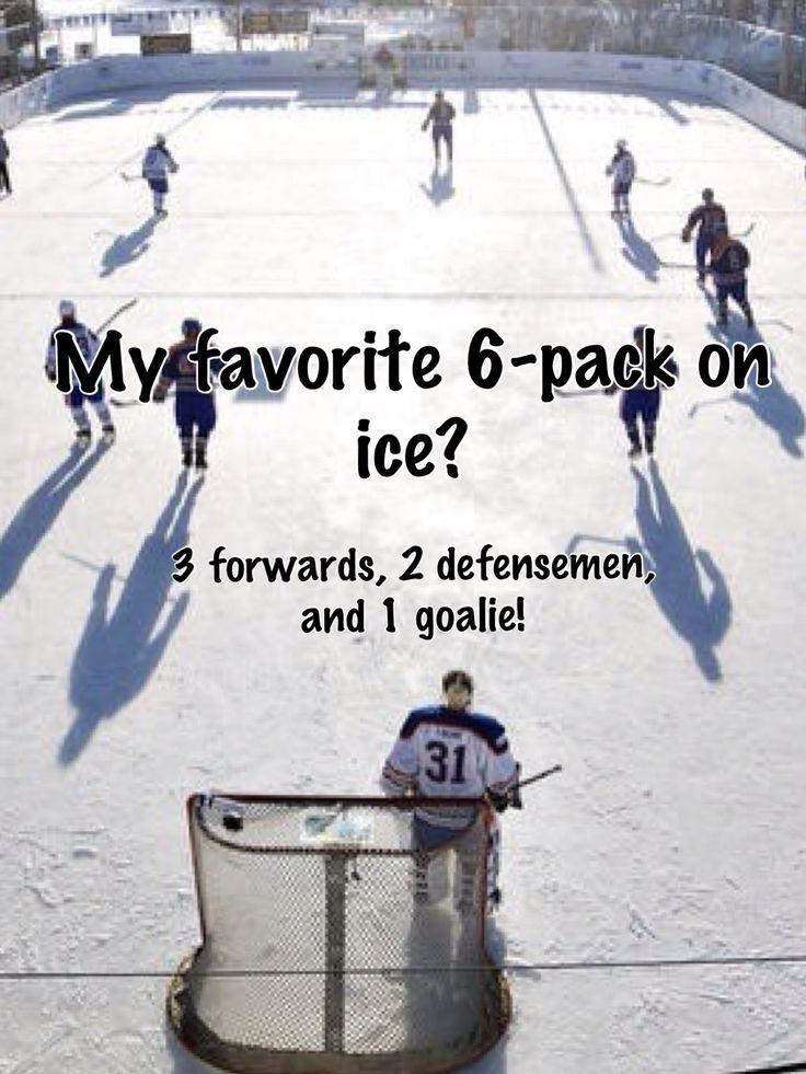 My favorite 6-pack on ice? 3 forwards, 2 defensemen, and 1 goalie! #hockey