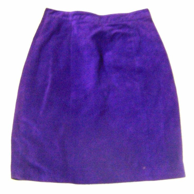 Global Identity Purple Suede Leather Skirt Knee Length Skirt Sz XS/S  #GlobalIdentity #ALine #Dance