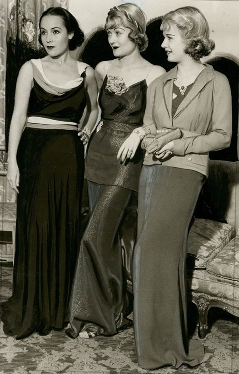 Delores Del Rio, Constance Bennett & Joan Bennett ♥ December 1934