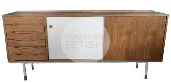 Replica Vodder Sideboard #26 Natural/White
