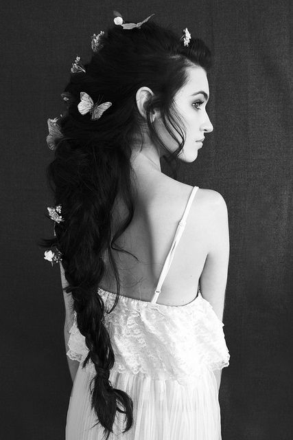 Love that hair!!!!!: Wedding Hair, Dark Hair, Black Hair, Long Hair, Butterflies Hair, Longhair, Fairies Hair, Hair Style, Fairies Tales