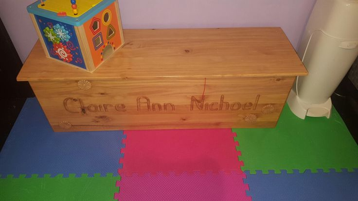 Gramma and grampa did this.. does cost more to make ur own toy box