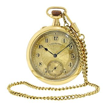 Estate A. Lange & Sohne 18k Gold Open-face Pocket Watch, circa 1925