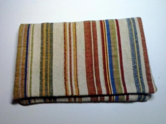 tabaquera 04  tela de tapicería,velcro,loneta a mano y a máquina