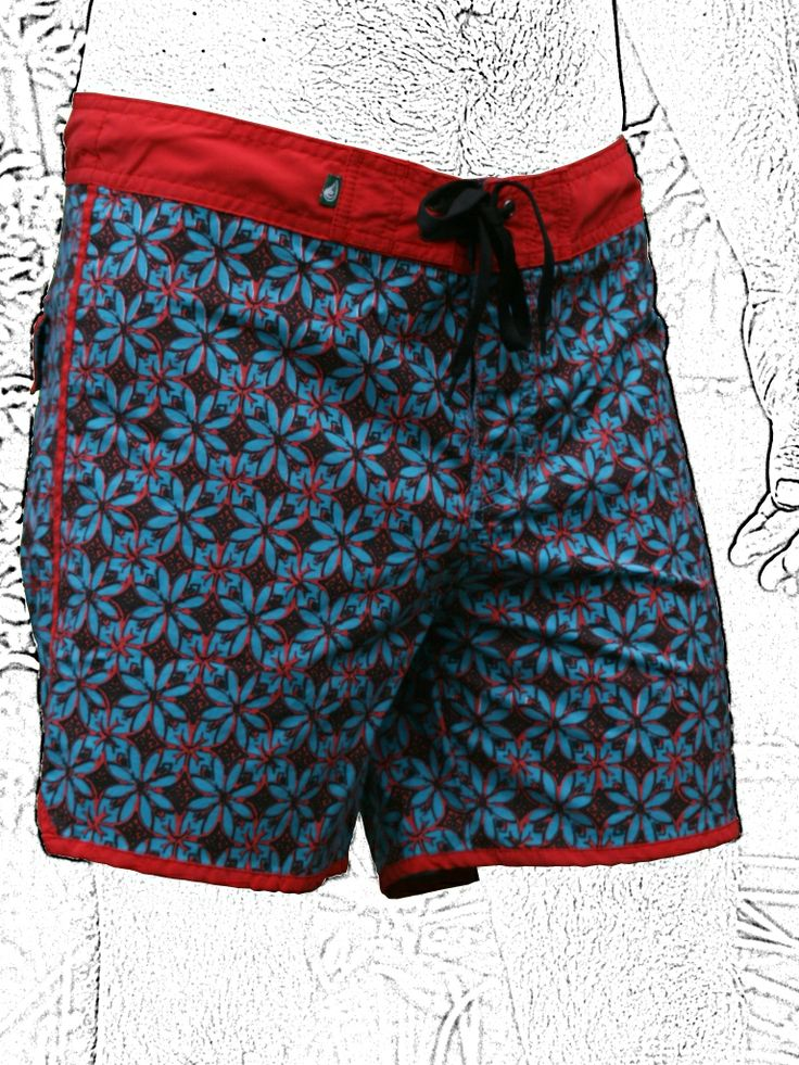 "NUSA KAWON BOARDSHORTS short-length/two-way stretch/honey|red/blue|sky sizes: 28,30,32,34,36,38 ""The Kawung"", one of the oldest batik designs. Inspired on the Areca Palm fruit, a symbol of fertility and hope.Known to be connected to Sakti's mythology,Hindu goddess of all creation. It symbolizes universal energy structured in the Universe and the sacred origin of life. A motif traditionally reserved to the royalty where it meant power and justice.#surf#surfing#bali#batik check: issuu.com/"