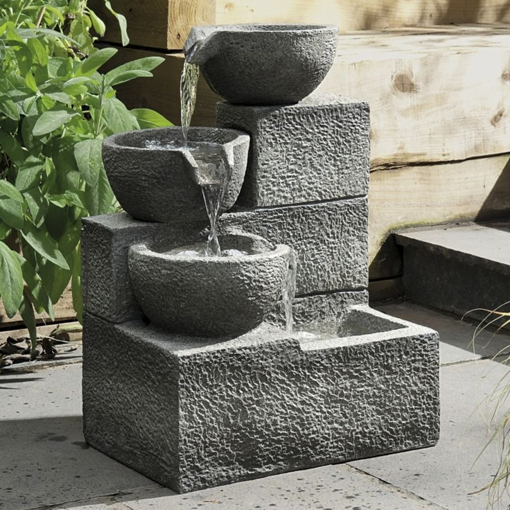 diy water features   Tier Cascade Outdoor Water Feature customer reviews - product ...