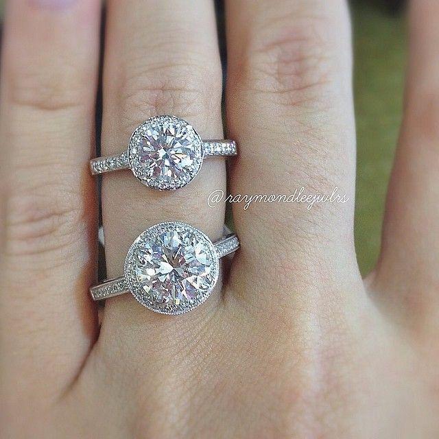 2b93914ed2ead Diamond Size Guide  Round Brilliant Engagement Rings