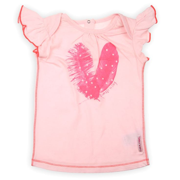 Kidsclothes Tumble n Dry 2014 Meisjes Shirt Oso Lichtroze Kinderkleding, Kindermode en Babykleding www.kienk.nl