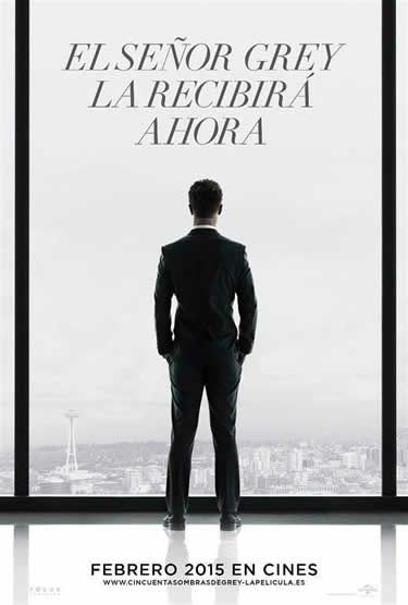 Póster de Cincuenta sombras de Grey (Fifty Shades of Grey) en español. Estreno Febrero 2015