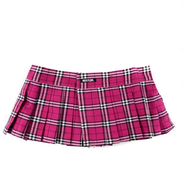 Hustler Hot Pink Micro Mini Plaid Skirt in ($30) ❤ this & those shoes at dempseys