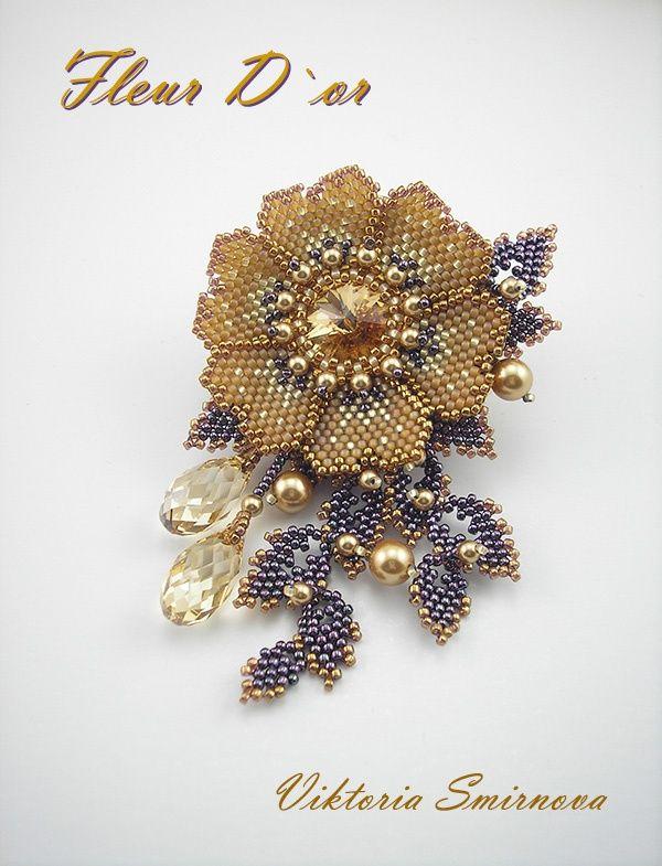 Альбом пользователя Умка: Брошь Золотой цветок ( Fleur DˇOr)