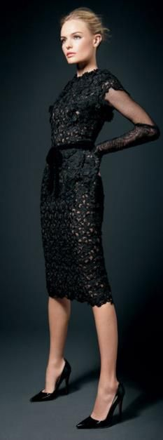 Tom Ford black lace dress @roressclothes closet ideas women fashion outfit clothing style apparel