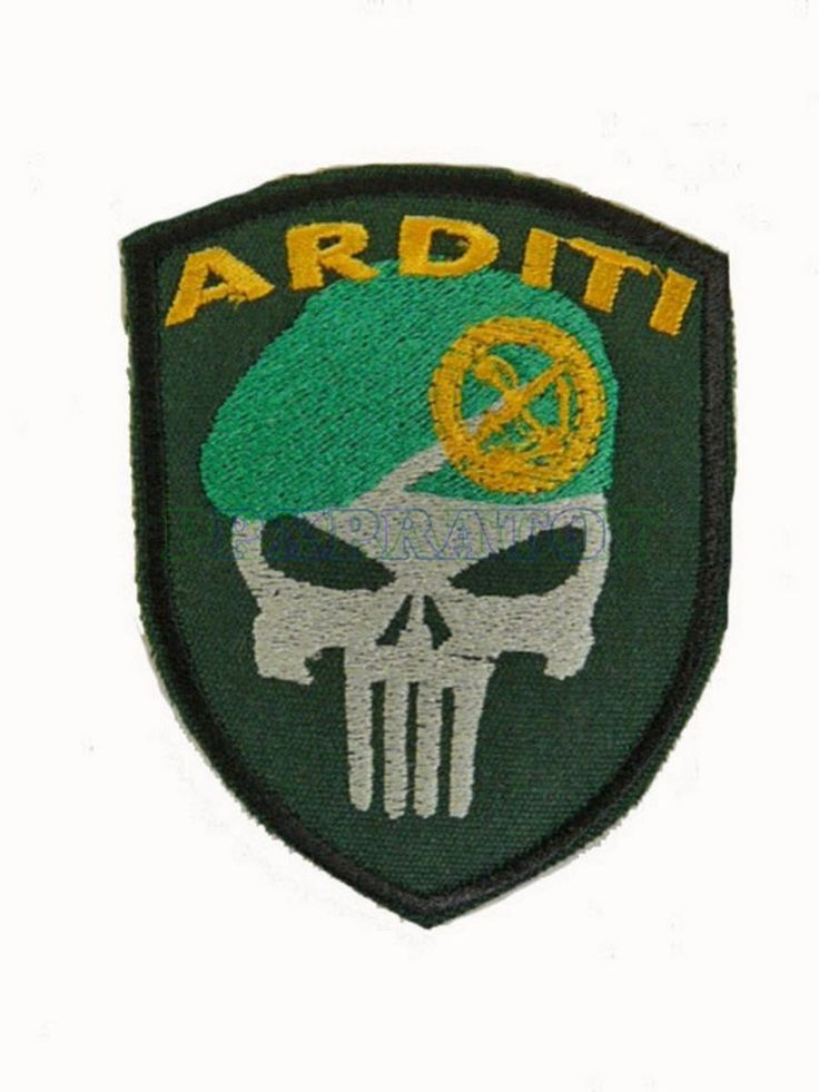 Patch Militare Soft Air Arditi Incursori Punisher Basco Toppa Scudetto Ricamata