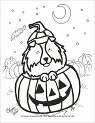 halloween pet coloring pages - photo#10