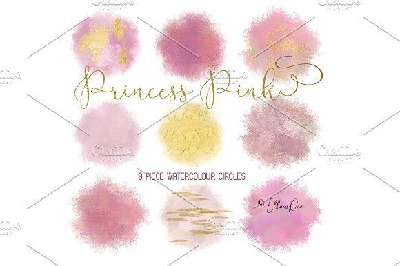 Princess Pink Watercolour Circles by EllowDee on @creativemarket PRETTY WATERCOLOR WATERCOLOR ICONS BRUSH STROKES CIRCLE BRUSH STROKES WATERCOLOUR CIRCLES WATERCOLOR CIRCLES CIRCLE CLIP ART PINK AND GOLD SPARKLE GLITTER WATERCOLOR SHAPES BALLOONS BLOBS BLOG BUTTON BLOG ELEMENTS WEBSITE DECOR LOGO MAKER BLOG MAKER WATERMARK PHOTOGRAPHY WATERMARK WATERCOLOUR DESIGN BRANDING BLOG COVER