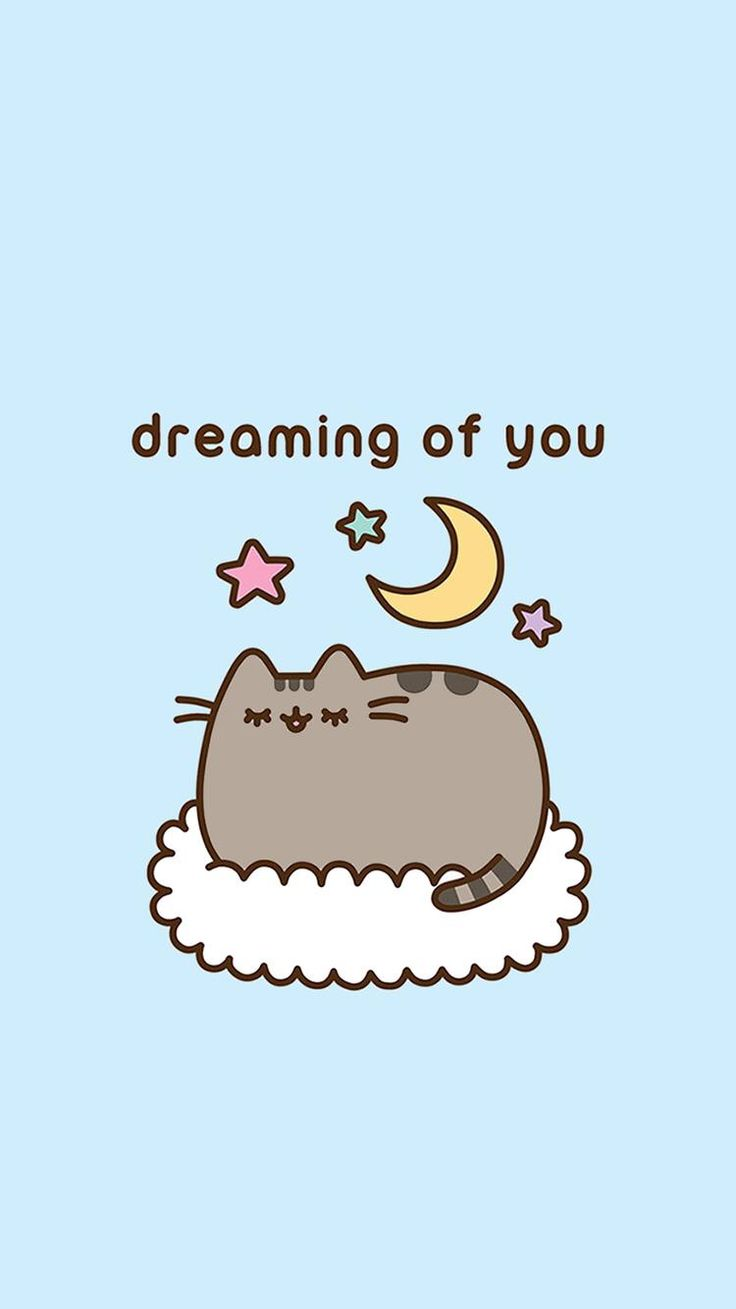 Pusheen Dreaming Of You UnicornPusheen CatPhone BackgroundsIphone WallpapersCartoon