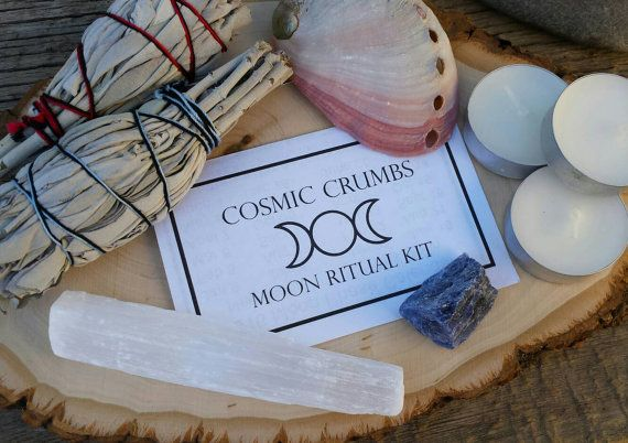Full Moon and New Moon Ritual Kit - This is a perfect starter kit for your monthly moon rituals. You can use the kit all on its own or as an additive to your already designed ceremony.