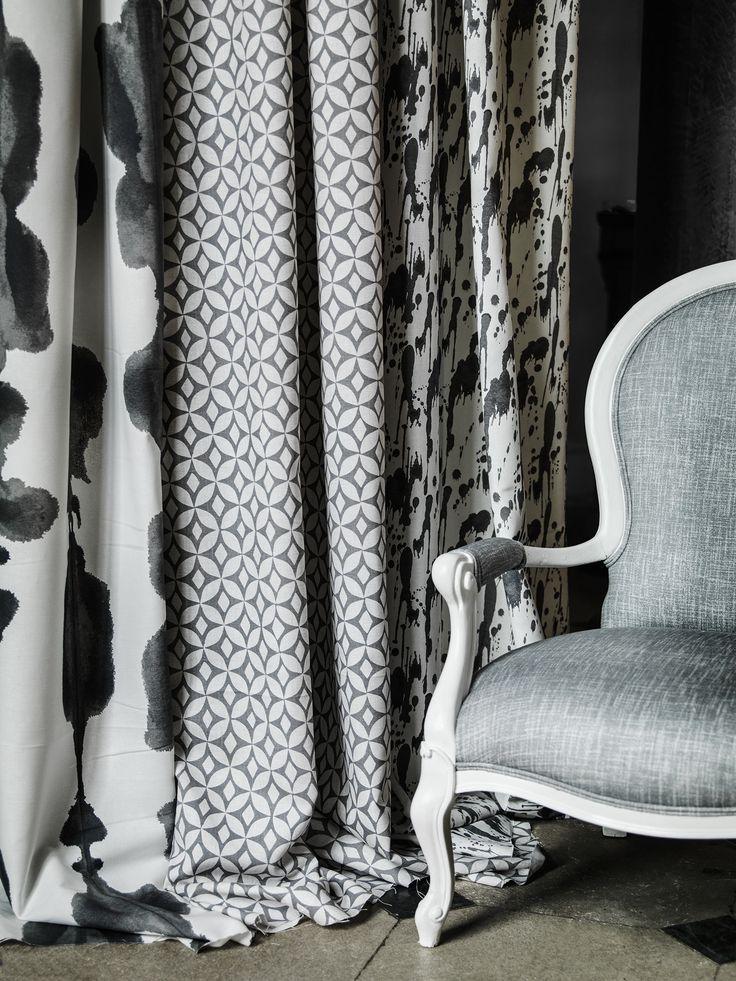 Image result for Korla Fabric Collection splatter blue
