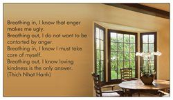 Thich Nhat Hanh's anger two-breath meditation made with Vistaprint's free business cards (pay for shipping only) #mindfulness