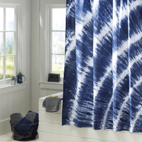 Tatum Tie-Dye Shower Curtain: Navy Bathroom, Boys Bathroom, Teens Rooms, Bathroom Accessories, Teens Bathroom, Beaches Bathroom, Pools Showers, Ties Dyed, Showers Curtains