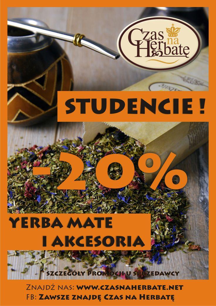 Czas na Herbatę - 20% na Yerba Mate oraz wszystkie akcesoria do jej parzenia  Promocja trwa do 22.06.2014r. :)