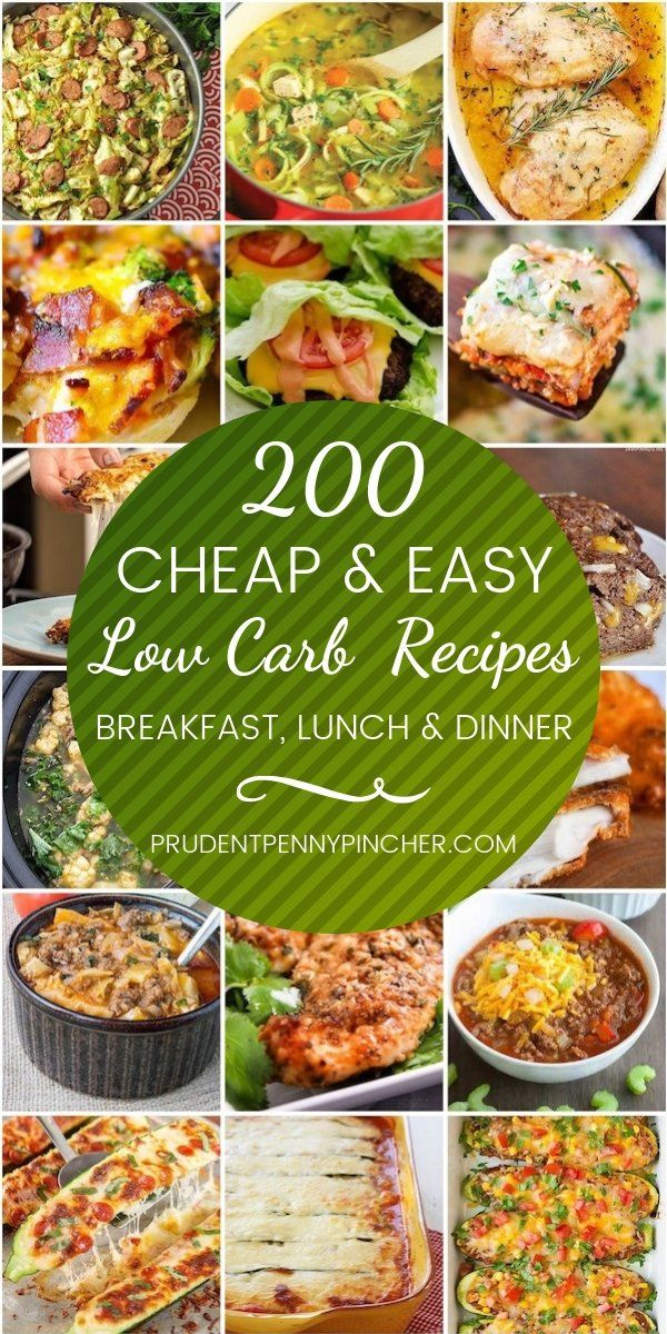200 Cheap And Easy Low Carb Recipes Low Carb Meals Easy Recipes Low Carb Meal Plan