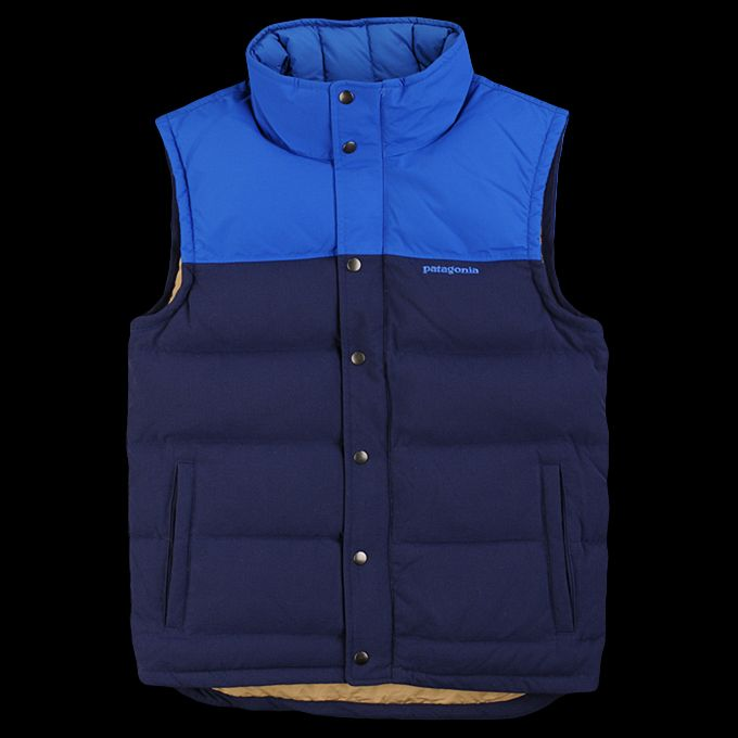 Patagonia Bivy Down Vest In Classic Navy Outerwear Man