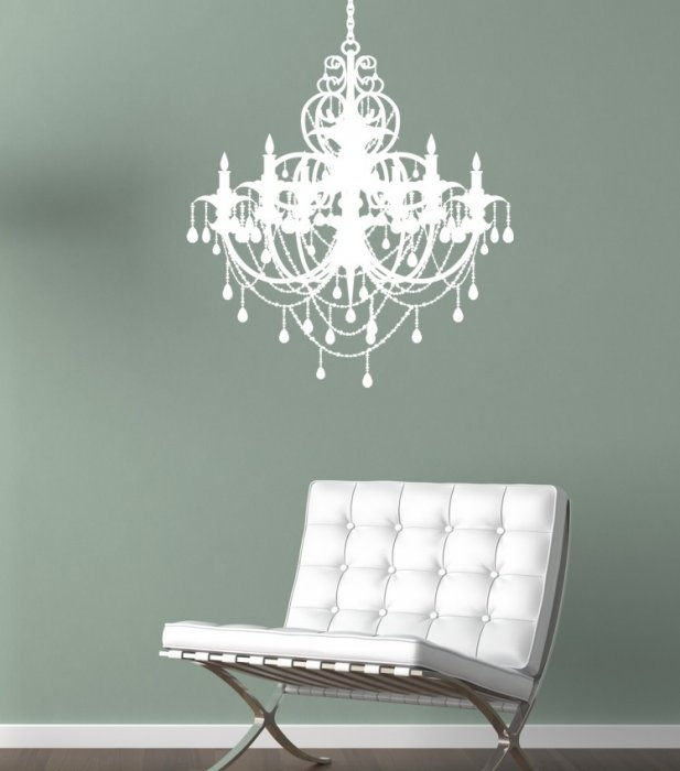 Chandelier Wall Decal 51 67