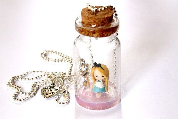 Hey, I found this really awesome Etsy listing at https://www.etsy.com/listing/180742645/alice-in-wonderland-bottle-necklace