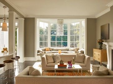 Living Room Bay Windows Design Pictures Remodel Decor And Ideas