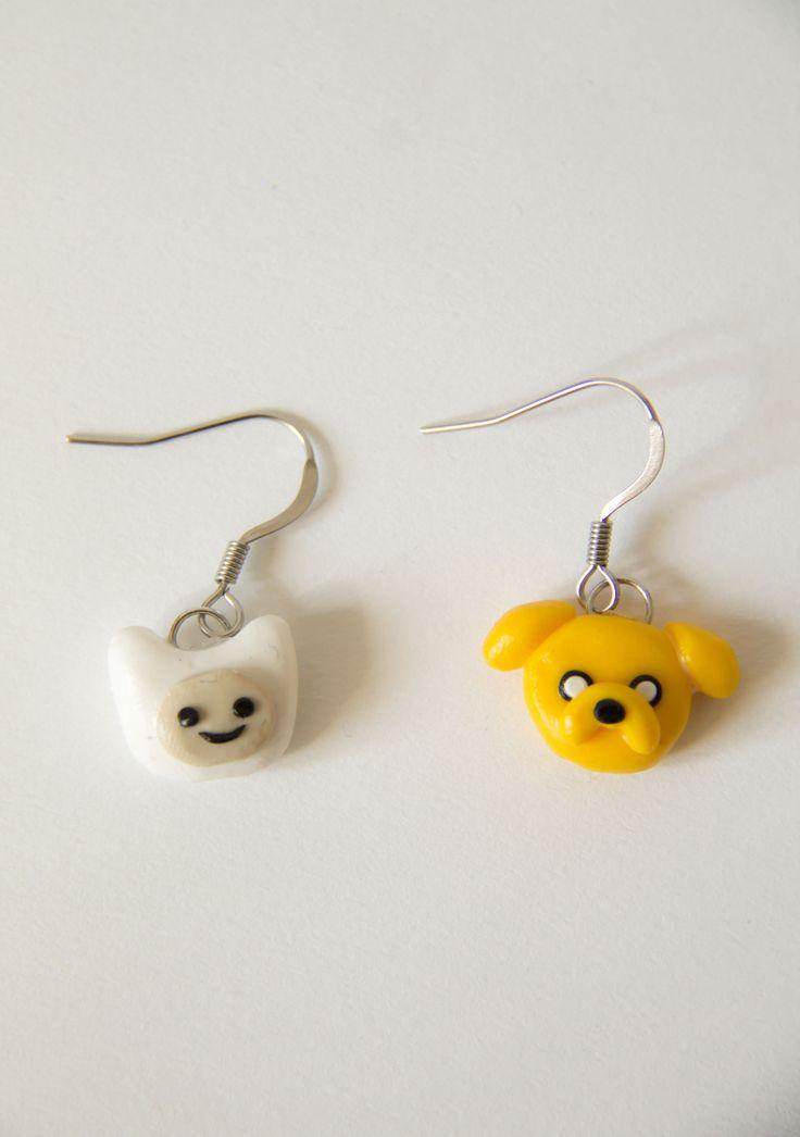 Adventure Time, Finn, Jake, earrings