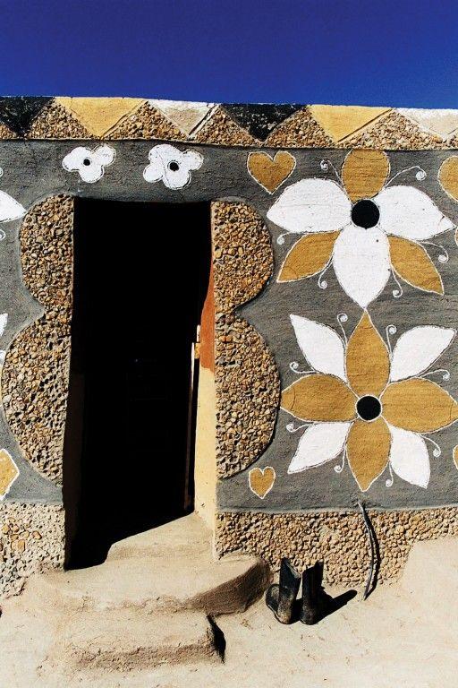 Lesotho: The Basotho women's art of house decoration.