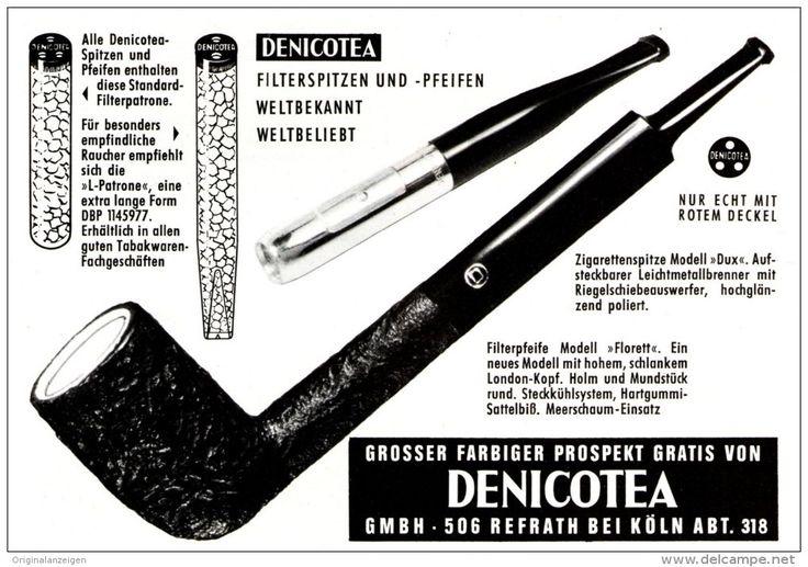 Original-Werbung/ Anzeige 1964 - DENICOTEA MOTIV PFEIFE - ca. 160 X 120 mm