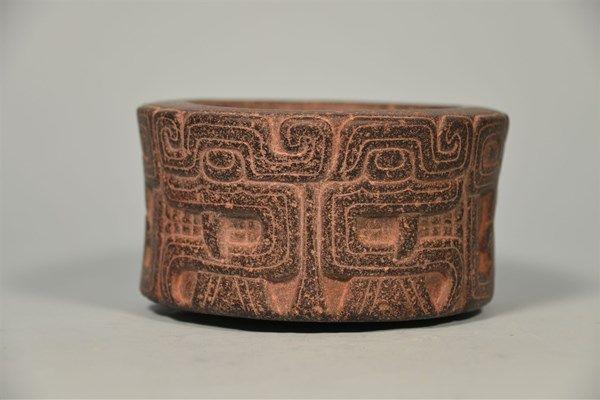 Chavin Ceremonial Stone Serpent Mortar, Peru