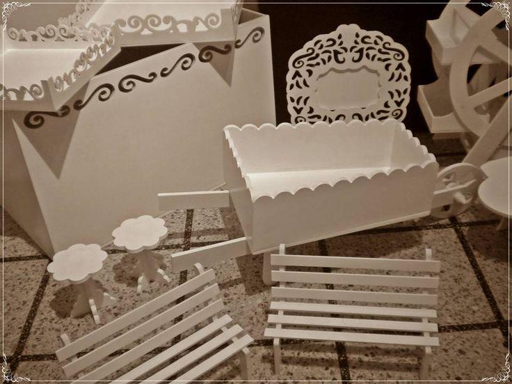 Set Candy Bar Completamente realizado en mdf. Pintados o en crudo