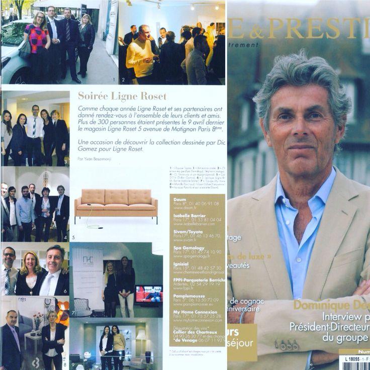 Spa gemology dans le magazine Luxe et Prestige pour l'événement Ligne Roset ! #spagemology #gemology #cosmetics #pressrelease