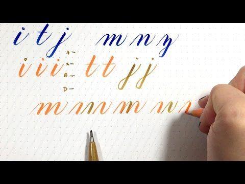 Intro to Brush Lettering: Drawing Letters   Hello Brio Studio