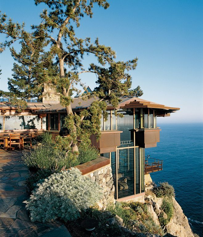 Mickey Muennig's organic architecture at Big Sur, California, | The Partington Point House, which Muennig renovated in 1995 | Dwell