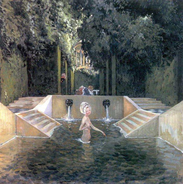 А.Н.Бенуа - Купальня маркизы. 1906