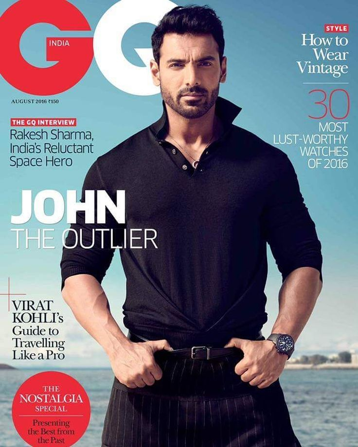 The handsome John Abraham sizzles on the cover of #GQIndia magazine. August 2016…