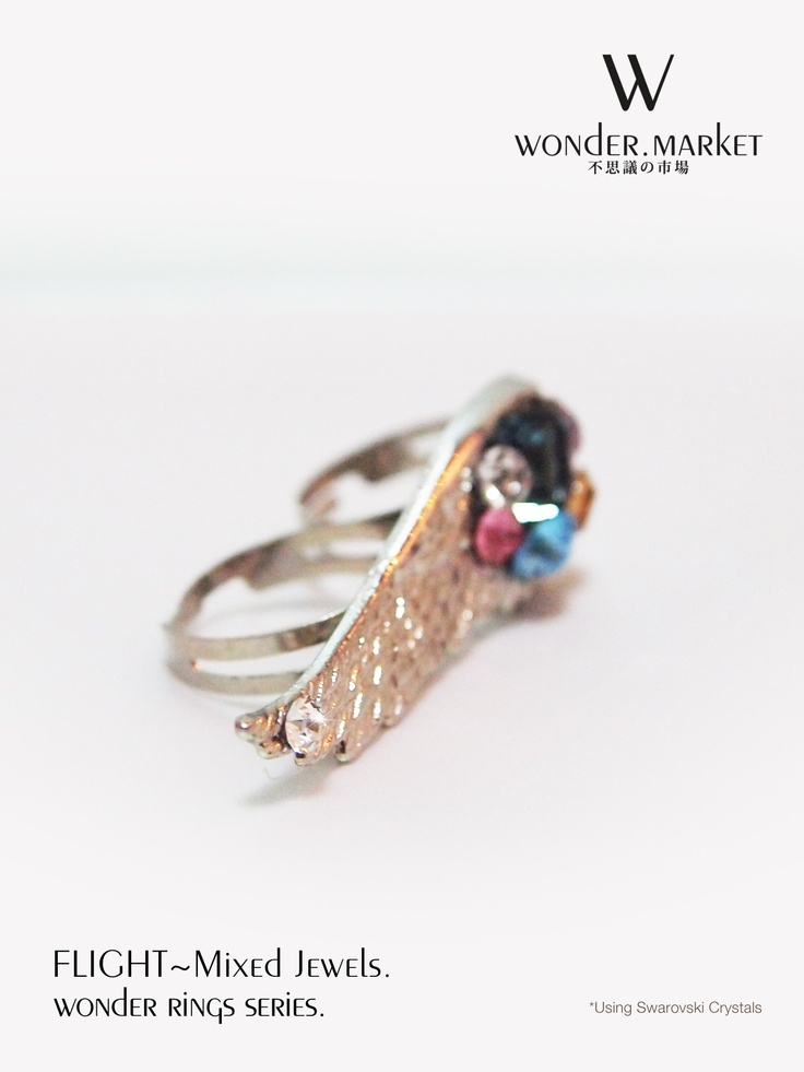 Double Rings - Flight- Mixed Jewels [By Wonder.Market] Buy it at under usd $30 at http://www.liveitgorgeous.com/fashion/double-rings-flight-mixed-jewels-by-wonder-market.html#