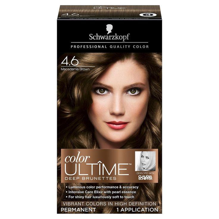 Schwarzkopf Color Ultime Deep Brunettes Hair Color 4.6 Macadamia Brown - 2.03 oz