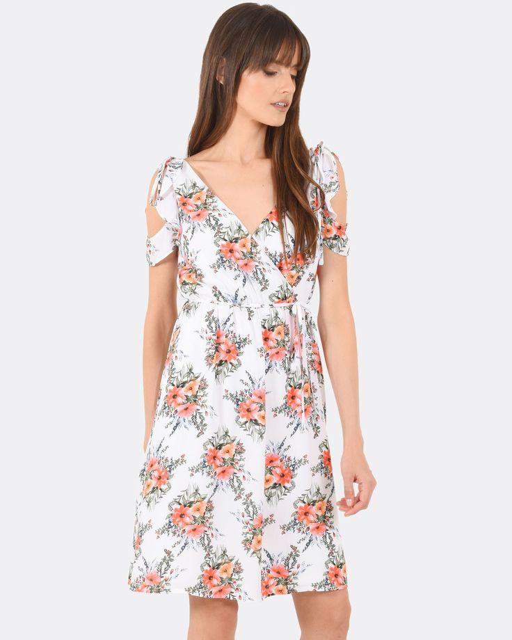 Milania Frill Wrap Dress, Forcast $34.30  http://www.shopyou.com.au/ #womensfashion #shopyoustyle
