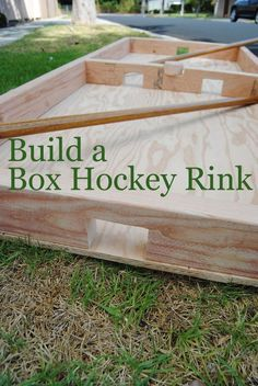 build box hockey rink Build this Classic Game of Box Hockey No Ice Required